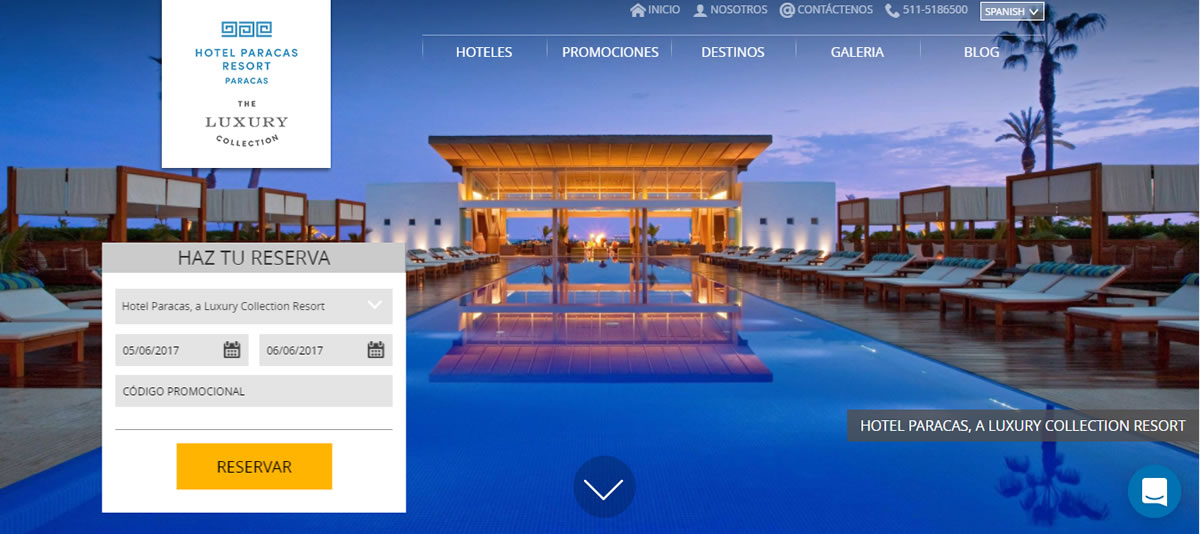 El Hotel Paracas, a Luxury Collection Resort te espera a solo tres horas de la capital.